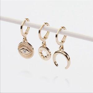 NWOT Anthro BaubleBar Gold Earring Set of 3